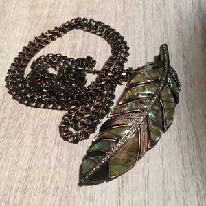 Labradorite Feather Necklace